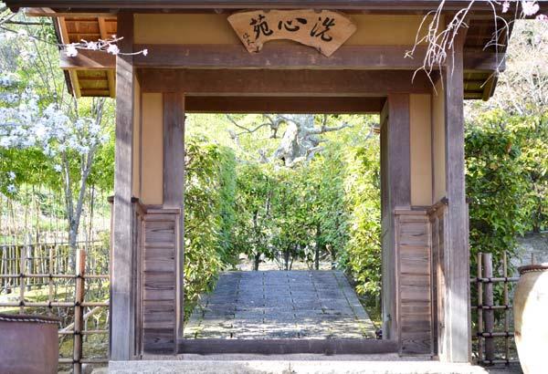 暮雪庵の門