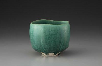 緑釉茶碗(黒岩達大)